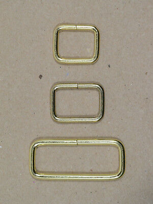 """Keepers - Brass Plated - 5/8"""", 3/4"""", 1 1/2"""" x 1/2"""" tall - Pack of 100 (F464)"""