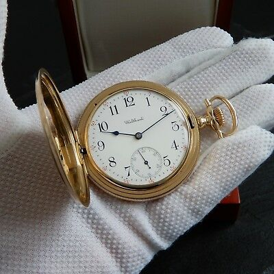 Waltham Maximus 14k Solid Gold HUNTER 23 Jewel Swan Neck Regulator Pocket Watch