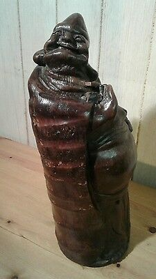 Antique chinese mid 19th century carved bamboo root lucky buddha