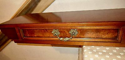 "Vtg Italian Import- 54""x12"" Traditional POPLAR BURL WALL SHELF / CABINET BRIDGE"
