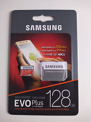 Samsung Evo plus 128Gb, 100MB/s +SD-Adapter UHS-I U3     ORGINAL