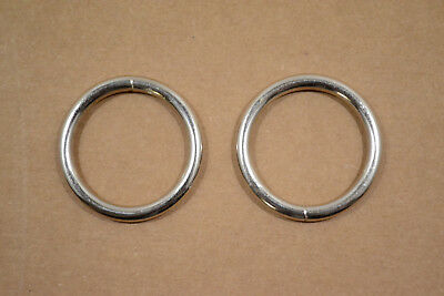 """O Ring - 1 1/4"""" - Nickel Plated - Wire Welded - Pack of 48 (F415)"""