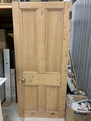 Old reclaimed victorian four panel door-larger sized