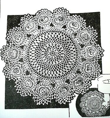 """5711 Vintage Anne Cabot PANSY DOILY Pattern to Crochet Reproduction 15/"""""""