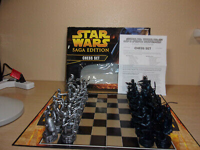 Star Wars Chess Set Original Box Complete Plastic Pieces
