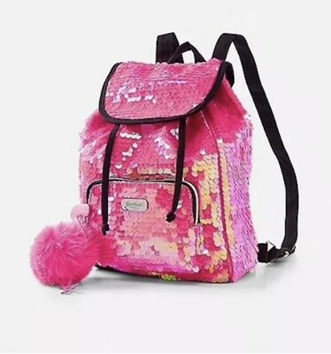 "Justice /""Girls Can/"" Flip Sequin MINI Backpack *New With Tags*"