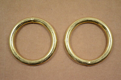 """O Ring - 1 1/2"""" - Brass Plated - Wire Welded - Pack of 24 (F423)"""