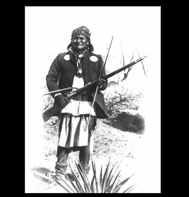 1886 Geronimo Surrender PHOTO Rifle in Hand, Apache Chief Indian General Crook