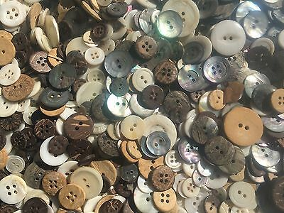 100 pc MIXED LOT Real Shell & Coconut Buttons All SIZES
