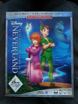 Disney's Pan Pan: Return to Neverland with Slipcover (Blu-ray + DVD) NO DIGITAL