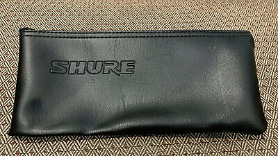 "Shure Black Vinyl Wired Microphone Bag Zipper Pouch Case - Size 10"" x 4"""