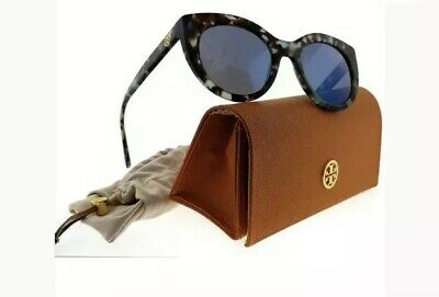 17bb4b7cecd6 Tory Burch TY7115-1692Y7-50 Cat Eye Women's Tortoise Frame Blue Lens  Sunglasses
