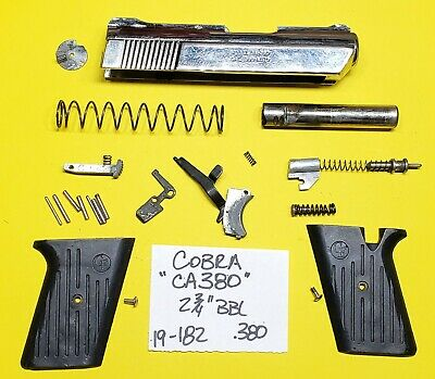 COBRA FS 380 Chrome Gun Parts Lot All Pictured Parts 4 One Price