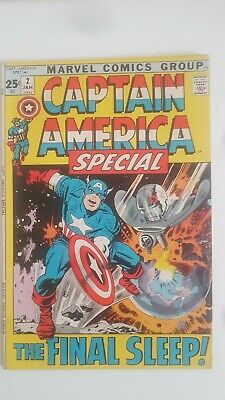 Captain America Special # 2 B/a 1972 - Stan Lee & Jack Kirby Classic Story