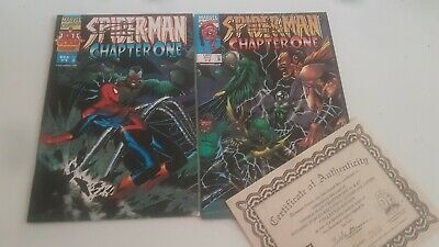 SPIDER-MAN CHAPTER ONE # 1 & 2 - Signed by JAE LEE - MARVEL COMICS