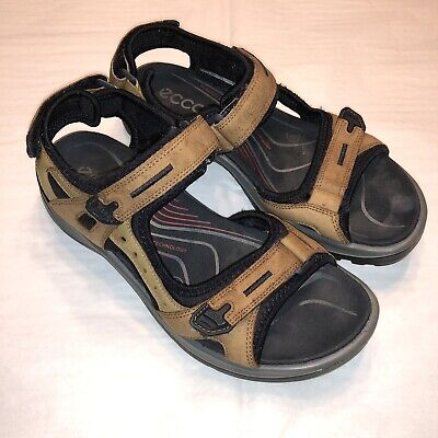 b803e7c3b9 WOMENS ECCO YUCATAN Sandals Size 7 - 7.5 EU 38 Brown Leather - $4.95 ...