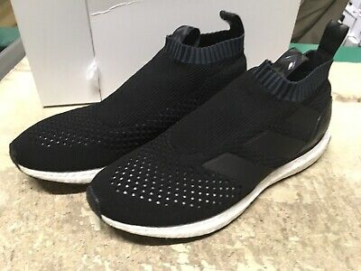 d54b5a35 USED Adidas Men's ACE 16+ PURECONTROL UltraBOOST BLACK BY1688 SZ 9.5 FREE  SHIP