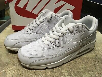 USED MENS NIKE Air Max 90 Leather Pa Running Shoes 705012 111 Sz 10.5 Free Ship