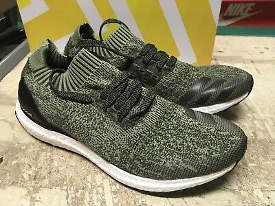 79dead4058039 USED Men s ADIDAS ULTRA BOOST UNCAGED Olive BB3899 SZ 10 Free SHIP RUNNING  SHOES