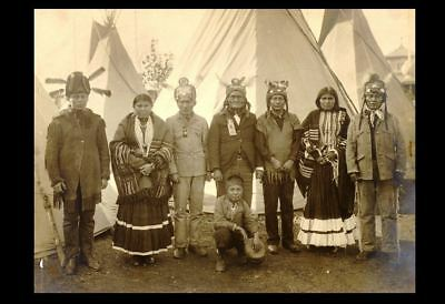 1904 GERONIMO St Louis Worlds Fair PHOTO Group, Apache Indian Boy Chief