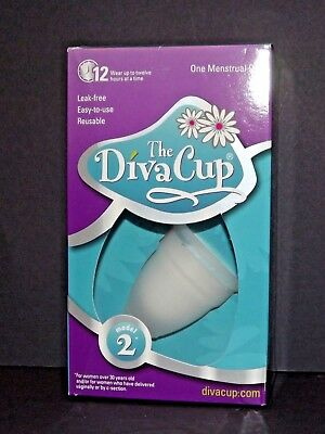 The Diva Cup Model 2 For Women Over 30 Years Old New Leak Free Silicone (U)