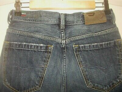 5e7c6ccd Men's Boy's DIESEL QURATT jeans size 27 x 30 Button-fly Factory Distressed  Italy