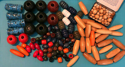 VTG Macrame Beads Wooden All Sizes and Colors Ceramic