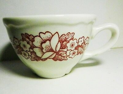 HOMER LAUGHLIN  RED Floral Bouquet Pattern CUP-RESTAURANT WARE-BEST CHINA HLC-