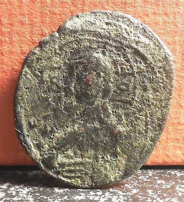 JESUS CHRIST Class B Anonymous Ancient Byzantine Follis Coin 1028 - 1042 A.D.