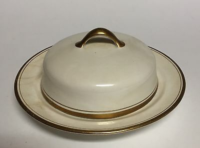 Homer Laughlin Empress China 18K Gold Band Round Covered Butter Dish 129N E2002