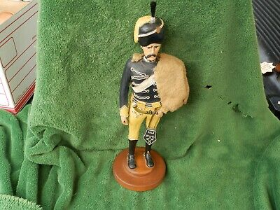 "Vintage Hand Carved Wood Soldier/ British Guard? 1950's 16 1/4"" Tall Estate Find"