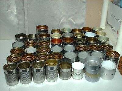 50 Empty TIN CANS for craft CANDLE SUPPLIES Practice targets shooting Hunting *