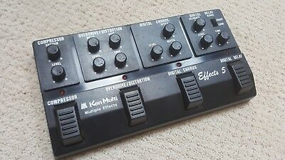Vintage 80s Ken Multi Effects 5 Multi-FX Guitar Pedal Made In Japan Bass Stomp
