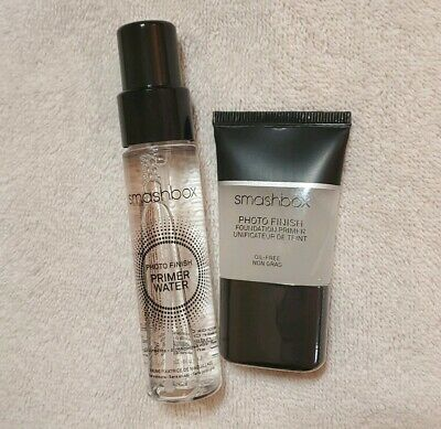 Smashbox Photo Finish Primer .5oz + Primer Water 1oz Travel New Sealed