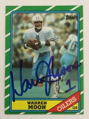 112c0cc98f0 Autographs-Original WARREN MOON OILERS NAMEPLATE FOR AUTOGRAPHED Signed  FOOTBALL-HELMET-JERSEY-PHOTO