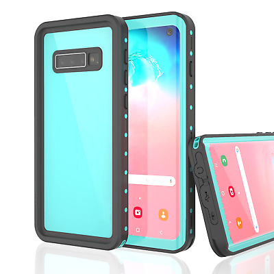 For Samsung Galaxy S10+ Plus Waterproof Snowproof Case Built-in Screen Protector