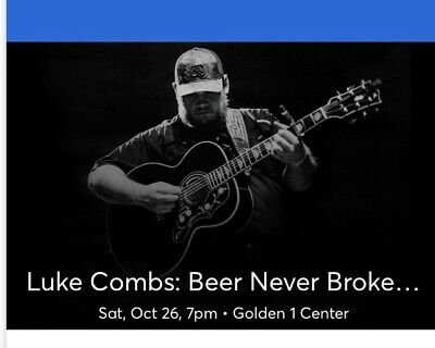 2 Luke Combs Floor Seats Row A Golden 1 Center Sacramento