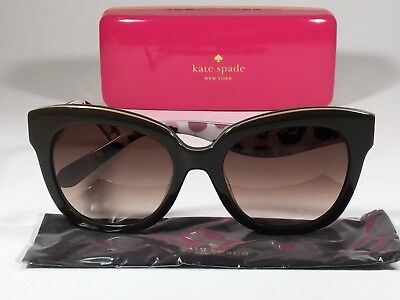 1bd6419e918b $160 New Authentic Kate Spade Cat Eye Sunglasses Brown W/ Brown Gradient  Amberly