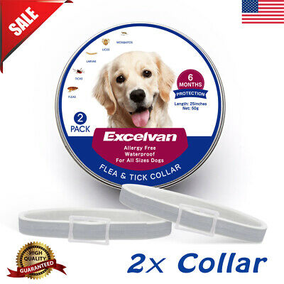 "2x 25"" Flea And Tick Collar Anti Insect For Small Pet Dog Cat 6-Month Protection"