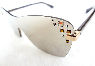 7e179d1dc JIMMY CHOO MASK 138 Sunglasses Rose Gold Gray/Silver Mirror NEW 99mm ...