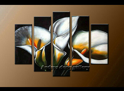 Large Modern Decor Flower Oil Painting Canvas Contemporary Wall Art Framed A1570