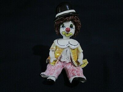 Collectable Porcelain Clown Figurines by Zampiva of Italy Item No.240500