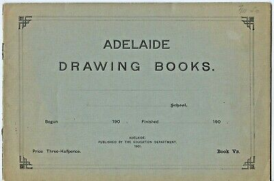 1901 Adelaide Drawing Book Vb Education Department Art Lessons Instructions  Z43