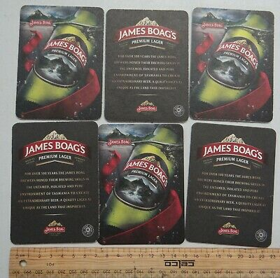 6 x  COLLECTABLE JAMES BOAGS PREMIUM BEER COASTERS / MATS BB26