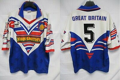 Maillot GREAT BRITAIN GRANDE BRETAGNE Angleterre rugby league XIII PUMA vintage