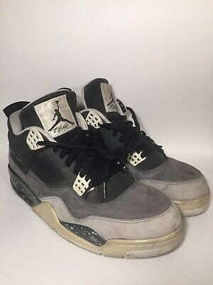 563947c03c32ef 2013 NIKE AIR JORDAN IV 4 RETRO FEAR PACK BLACK WHITE GREY 626969-030 sz
