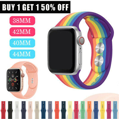 US Replacement Silicone Sport Band Strap For Apple Watch Series 4/3/2/1 40/44mm
