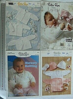 BABY Outfits, Jumpers, Cardigans - DK and 4 Ply PETER PAN - 4 Book Choice B40