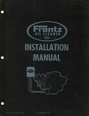 Frantz Oil Filter Factory Installation And Service Manual