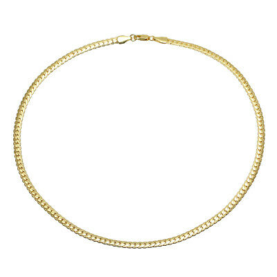 Fashion Women Men's Jewelry 18K Gold Plated Cuban Curb Link Chain Necklace 50cm